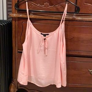 Forever 21 medium baby pink flowy tank top